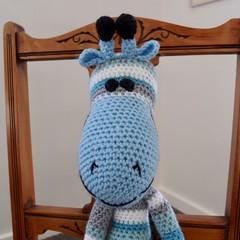 Cosby the hand crocheted Giraffe by CuddleCorner: soft, Washable, OOAK