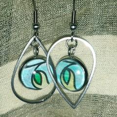 Leaf Eye Earrings