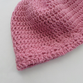 Pink Wool Cap for Small Adult Size or Teenager