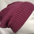 Unisex adult hand knit  Slouchy/beanieClassic 3/3