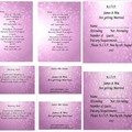 PINK BOKEH WEDDING STATIONARY PACKAGE