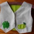 Felt Vest with Frog