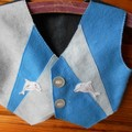 Felt Vest with Dolphins
