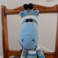 Cosby the hand crocheted Giraffe by CuddleCorner: soft, Washable, OOAK