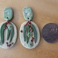 Handmade Earrings - Eucalyptus Drop Earrings