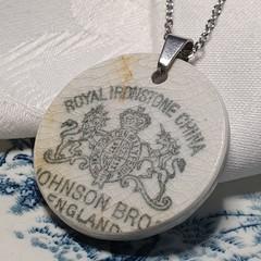 Johnson Bros Backstamp pendant