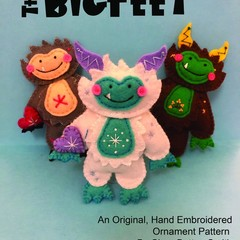 The BigFeet ~ a PDF pattern for a hand embroidered felt plushie ornament