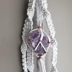 Amethyst Crystal Plant Hanger