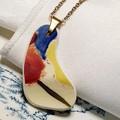 """Royal Doulton """"Pansy"""" pendant"""