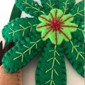 Sloth Under a Cecropia Leaf ~ a PDF pattern for a hand embroidered ornament