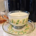 Glass vintage 70's Teacup - Scented Soy Wax Candle
