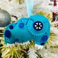 Tardigrade ~ a PDF pattern for hand embroidered felt Tardigrade Ornament or Toy