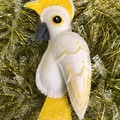 COCKATOO ~ a PDF pattern for a hand embroidered felt plush ornament