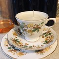 Queen Anne bone China - Soy Wax Teacup Candle