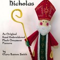 ST NICHOLAS ~ pattern for embroidered felt ornament and free standing decoration