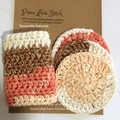 Wash cloth + Face Scrubbies Set, reusable, machine washable, Free shipping
