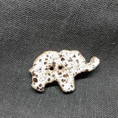 Elephant button white