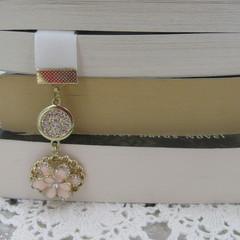 Bookmark Velvet Bling White