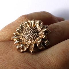 Sunny, Sunflower Adjustable Finger Ring