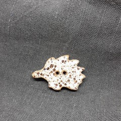 Echidna button white