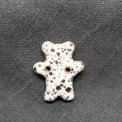 Bear button white