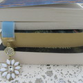 Bookmark Velvet Bling Blue