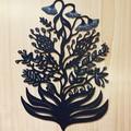 Paper Wildflowers woodcut