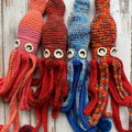 Crochet Squid Toy Softie Kids Bedroom Decor