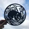 Wombat woodcut