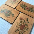 Australian Native Floral Eucalyptus Banksia Flower Timber Decorative Board Gift