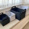Silver + Ash Grey Felt Storage Box Basket Flat Pack Organising Laundry