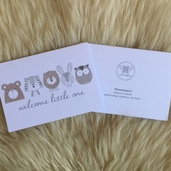 Welcome Little One Animal New Baby Card