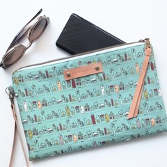 Large Zippered Neighbourhood Clutch
