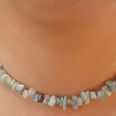 AMAZONITE GEMSTONE CHOKER NECKLACE, GREEN CHOKER NECKLACE, GEMSTONE CHOKER NEC