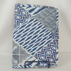 Quilted Fabric Notebook Cover  -  Blue Patchwork (Design 3)