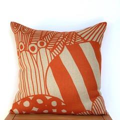 Rustic Orange Linen Pillow.  46x46cm