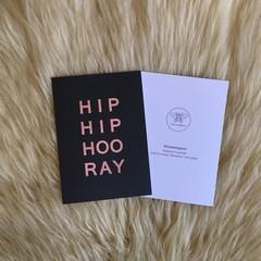 Hip Hip Hooray Birthday Black Copper Card