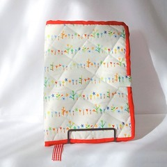 Quilted Fabric Notebook Cover  -  Spring Flowers