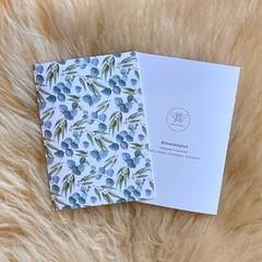 Australian Native Eucalyptus Leaf Flower Artwork Blank Card