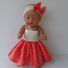 Dolls clothes  special party  dress for Baby Born or similar sized 41/48cm dolls