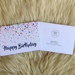 Multi-colour Watercolour Bubble Happy Birthday Card