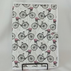 Quilted Fabric Notebook Cover  -  Paris In Spring