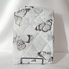 Quilted Fabric Notebook Cover  -  For The Love Of Butterflies
