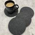 Felt Board Circle Ash Silver Pin Board Hot Mat Trivet Coasters Set of 4