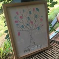 Baby Shower Gender Reveal Guessing Game Tree Artwork DIY Print at Home A3 Custom