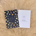 Gold Dot Happy Birthday Black Card