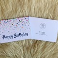 Multi-colour Watercolour Bubble Happy Birthday Card