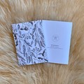 Australian Native Eucalyptus Gum Nut Line Drawing Artwork Blank Card