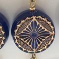 SALE! Navy blue beads earrings