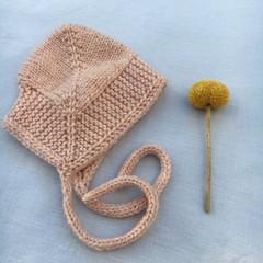 Cosy Baby Bonnet - vintage rose